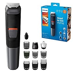 Advanced styling and precision: Craft your own personal look with this versatile all-in-one metal trimmer Self-sharpening, skin-friendly blades for a perfect trim Trim and style your face, hair and body with 11 tools. The kit includes a precision sha...