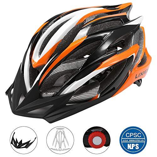 Lixada Adult Bike Helmet Mountain Bicycle Helmet 25 Vents Adjustable Comfortable Safety Helmet for Outdoor Sport Riding Bike