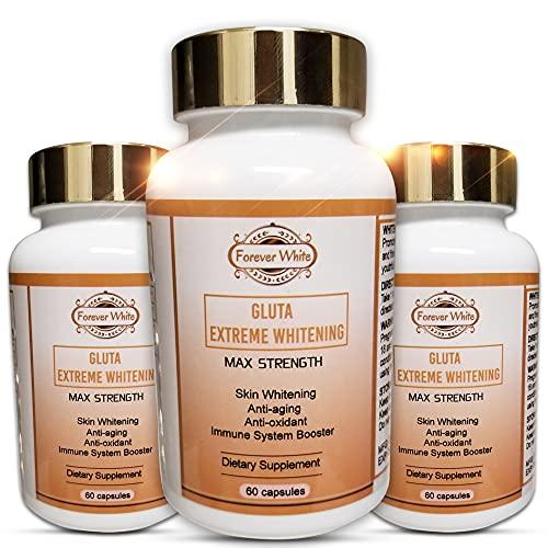 # 1 Best Glutathione Maximum Strength Whitening Pills - Dark Spots,Difficult Dark Knunkles, Melasma, Acne Scar - Vegan Skin Whitening Pills with Anti-Aging & Antioxidant Effect