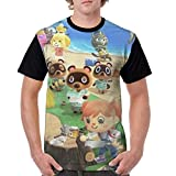 3dプリントどうぶつの森 (4) 夏服 Tシャツ メンズ 半袖 上質 カットソー ベーシック Tシャツ 薄手 柔らかい 快適 おおきいサイズ 吸水速乾 夏の必需品