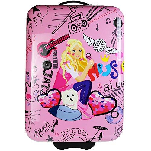 MADISSON - Valise enfant / fille, valise cabine fille 'MUSIC' ABS 50CM - Rose
