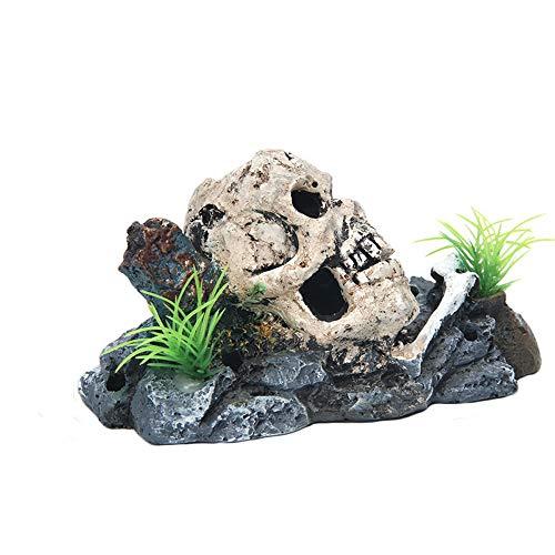 YGZJ Decoración de la pecera de la Cueva Oculta, decoración del Acuario del Ornamento del Esqueleto del…