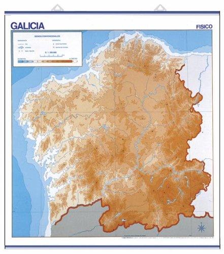 Galicia, f'sico / pol'tico: Mapas Murales Mudos (Cartografía)