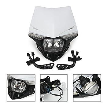 Universal Motorcycle Supermoto Headlight LED Dirt Bike Headlight Front Head Light For For 12V 35W White