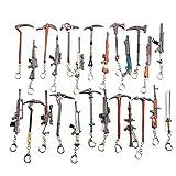 Frmarche 5pcs Arme Porte-clés en Cuir Vintage Porte Clef Metal Jeu...