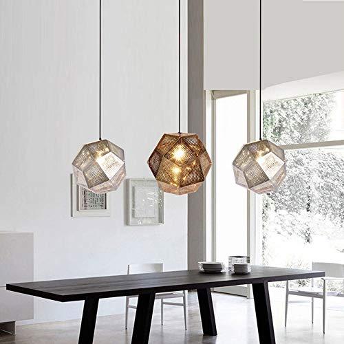 5151BuyWorld Ledlamp, hanger, goudkleurig, modern licht, strijkijzer voor woonkamer, hanglamp, restaurant, woonkamer