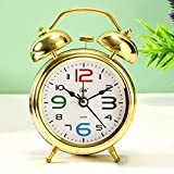 Archies Analog Alarm Clock for Bedroom,Bedside,Desk,Table,Office,Home,Shelf (Gifting for Diwali,Rakhi,Valentines Day,Mothers Day,Fathers Day) - Multicolor Metal
