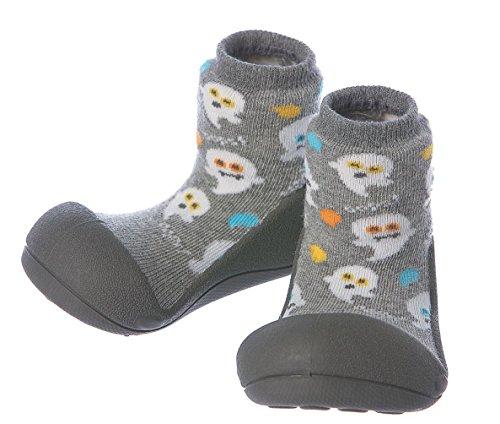 Attipas Zapatos Primeros Pasos- Modelo Halloween- (21.5, Gris)