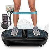 Sportstech 3D Vibrationsplatte VP300 | Mega Fett-Verbrenner + 5 Fitness-Bänder Extra | Riesige Fläche +leiser Oszillation Motor + Bluetooth Lautsprecher+ Remote & Poster | Fitnesstraining von Zuhause