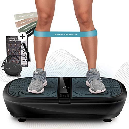 Sportstech Profi Vibrationsplatte VP300 mit 3D Wipp Vibrations Technologie