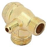 Conexión de válvula de retención - Compresor de aire Aleación de zinc Conexión de válvula de retención unidireccional de tres vías Conexiones de tubería