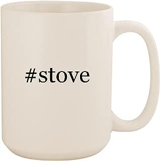 #ストーブ–ホワイトハッシュタグ425セラミックコーヒーマグカップ