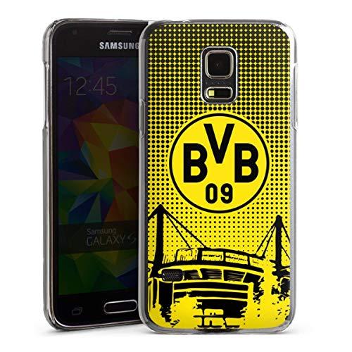 DeinDesign Hard Case kompatibel mit Samsung Galaxy S5 Mini Schutzhülle transparent Smartphone Backcover Stadion BVB Borussia Dortmund