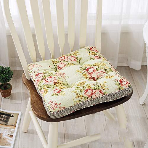 Dikke Elastische zitkussen, 100% katoenen bloemenprint kussen bureaustoel kussen Tatami kussen zitkussen, 40 * 40 * 5 cm (15,7 * 15,7 * 2inch) 40 * 40 * 5cm(15.7 * 15.7 * 2inch) D