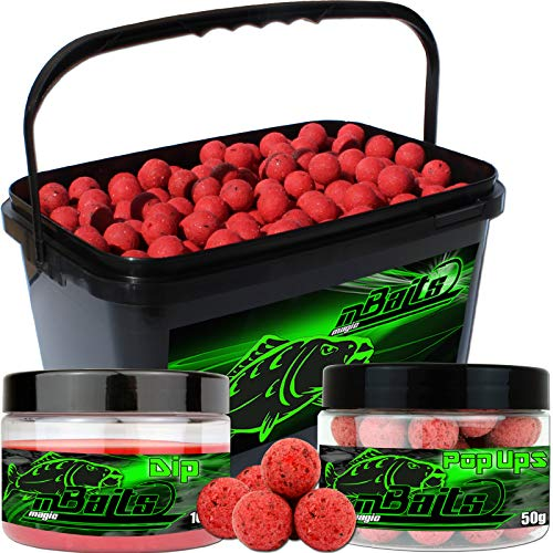 Angel-Berger Session Set Boilies Pop Ups Dip (Monster Crab, 20mm)