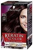 Schwarzkopf Keratin color permanent hair color cream, dark auburn