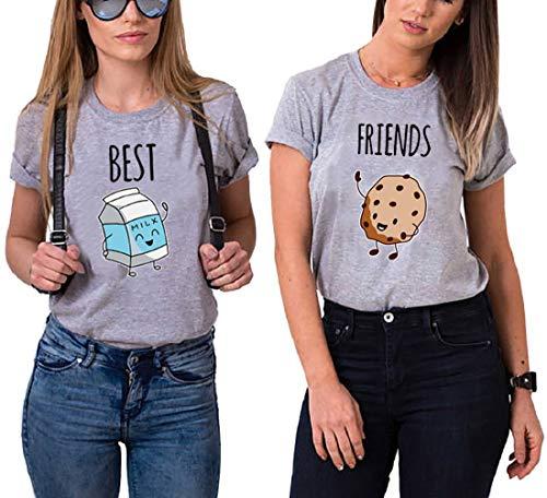 Daisy dla U Best Friends Sister T-Shirt dla dwóch dziewcząt damskie T-shirty z nadrukiem róży damskie topy lato top BFF 2 sztuki symboliczna przyjaźń-1 sztuka