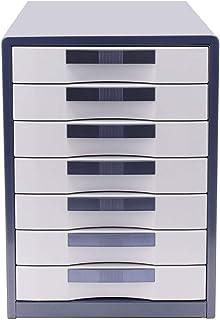 Classeur avec tiroir Armoires de classement Meuble de rangement en plastique de bureau à 7 tiroirs -30 * 35 * 41cm Fournit...