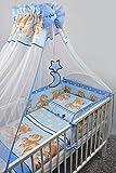 Cubierta de gasa para cuarto de niños, 200 x 160 cm + soporte de metal de pie azul 26