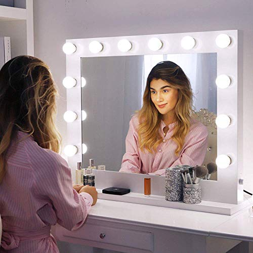 Choosing The Best LED Vanity Mirror: Four Products To Look At In 2018: Chende White Hollywood Lighted