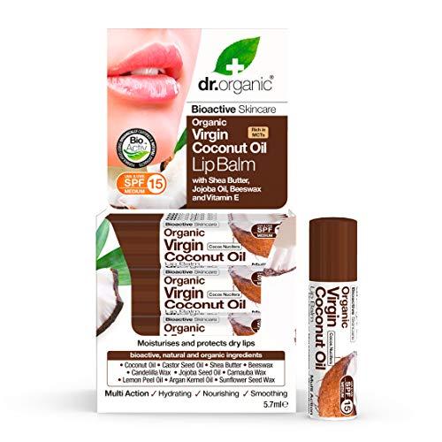 Dr. Organic Baume à Lèvres Bio à l'Huile de Coco Vierge 5,7 ml