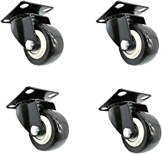"""Universele Castor wielen trolley meubels Caster, maat 1.5/2/2.5/3/4"""" (40/50/60/70/100 mm) Dempen slijtvaste schokabsorptie..."""