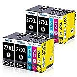 WELPOP - Cartucce di ricambio per Epson 27 27XL per Epson Workforce WF-3620 WF-3640 WF-7110 WF-7210 WF-7610 WF-7620 WF-7710 WF-7715 WF-7720 (confezione da 10)