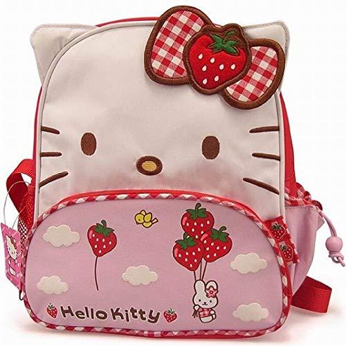 Reh Komfortable Schultasche, Mädchen Hello Kitty Mini Erdbeere Kinder Schultasche, tragbare, wasserdichte Schultasche für Kinder für Kindergarten Outn Leichte Belastung