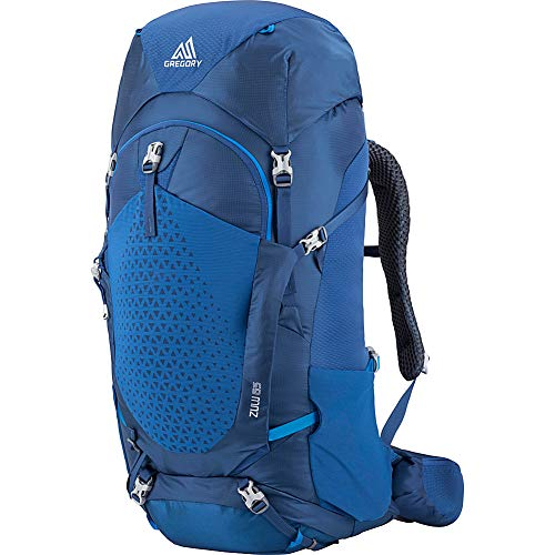Gregory Mountain Products Zulu 65 Liter Men's Overnight Hiking Backpack, Empire Blue, Medium/Large
