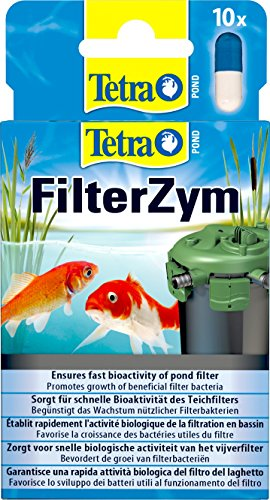 Tetra Pond FilterZym (activeert de biologische reinigingskracht van het vijverfilter en verbetert zo de waterkwaliteit), 10 capsules
