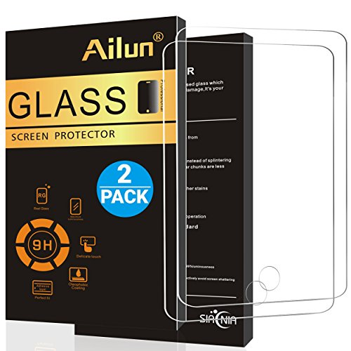 Ailun Screen Protector Compatible with iPad Air 1,iPad Air 2,iPad Pro,[2Pack],9.7 inch, 2.5D Tempered Glass,[Apple Pencil Compatible] Anti-Scratch,Case Friendly-Siania Retail Package