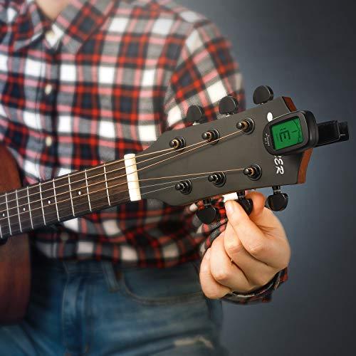 Donner Guitar Tuner Clip on DT-2 Chromatic Digital Tuner Acoustic Guitars, Banjo, Ukulele, Violin, Bass