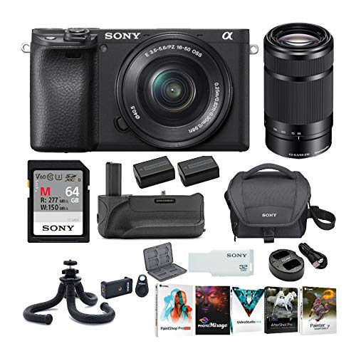 Sony a6400 Mirrorless Digital Camera with 16-50mm and 55-210mm Lenses...