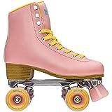Impala Rollerskates Girl's Impala Quad Skate (Big Kid/Adult) Pink/Yellow 8 (US Men's 6, Women's 8)