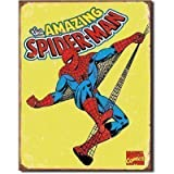 Froy Spider- Marvel Mics Stressed Wand Blechschild Retro