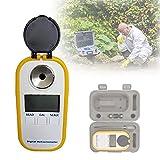 HIMABeauty ATC Refractómetro Digital, Refractómetro de Mano con Prisma HD, índice de Refracción: 1.3330-1.4200nd para Anticongelante Probador de Glicol