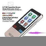 Dispositivo de traducción de idiomas, pantalla táctil de 2.4 '' Intérprete inteligente portátil Trad...