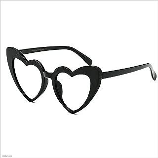 Stylish Glasses Frame Sunglasses Rimmed Sunglasses Lady's Classic Retro Sunglasses Personality Driving Sunglasses UV Protection Sunglasses Clothing Accessories (Color : Clear)