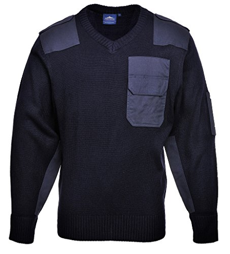 Nato-Pullover/Bundeswehr-Pullover, Größe XL, V-Ausschnitt, dunkelblau, mit Besätzen, lieferbar von Größe XS - XXXL