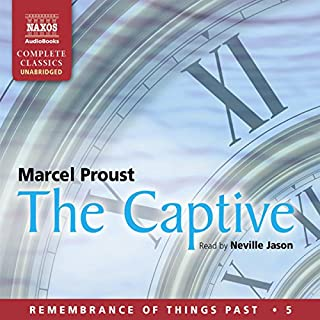 The Captive: Remembrance of Things Past - Volume 5                   Written by:                                                                                                                                 Marcel Proust                               Narrated by:                                                                                                                                 Neville Jason                      Length: 19 hrs and 53 mins     Not rated yet     Overall 0.0
