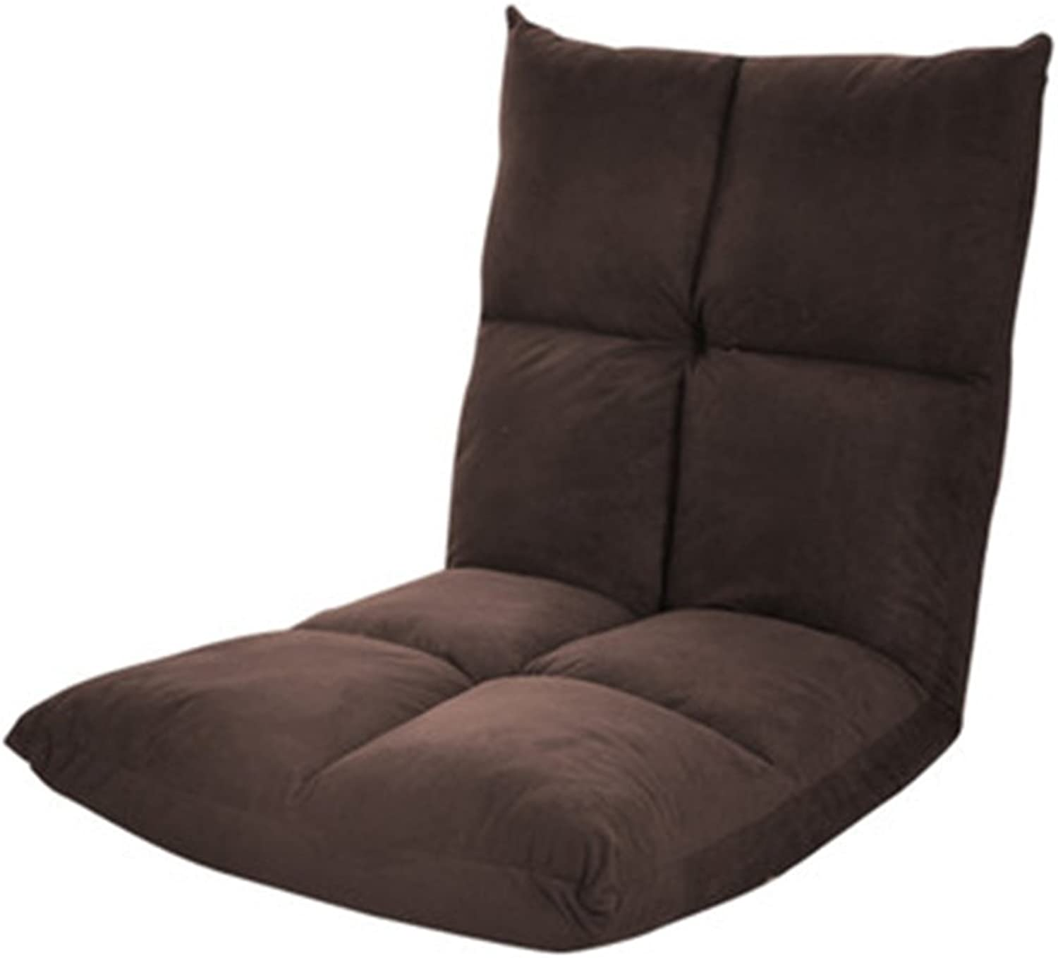 MAHZONG Recliners Lazy Sofa Bedroom Folding Bed Chair (color   Brown)