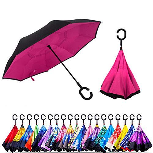 Smart-Brella - The World's First Reversible Umbrella (Dark Pink)
