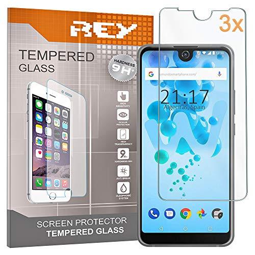 REY Pack 3X Panzerglas Schutzfolie für WIKO View 2 - View 2 PRO, Bildschirmschutzfolie 9H+ Festigkeit, Anti-Kratzen, Anti-Öl, Anti-Bläschen