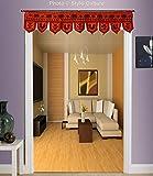 Stylo Culture Dekorative Baumwolle Fenster Volant Bestickt Orange Indisch Bestickter Elefant Schal Vorhang Wandteppich Schlafzimmer Traditionelle Beute Vorhang Türbehang Toran   36 x 10 Zoll