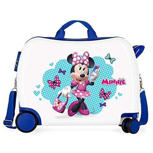 Disney Minnie Good Mood Maleta Infantil Multicolor 50x38x20 cms Rígida ABS Cierre combinación 2,1Kgs 4 Ruedas Equipaje de Mano