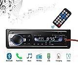 Radio de Voiture stéréo vidéo FM Radio, 4x60W Poste Radio Voiture,Autoradio Bluetooth avec Télécommande Adaptateur DIN ISO...