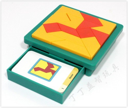 Great Tangram Gift Kids Innovative Pattern Puzzle Logic Brain Game 60 Challenge