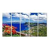 Bild Bilder auf Leinwand malerische Insel Capri Italien