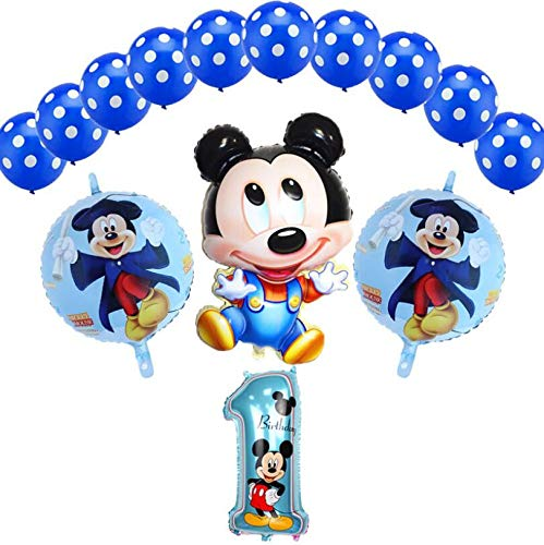Mickey Birthday Party Decoration, Minnie Birthday Party Decorations Set, Banner Balloons for Boys Judo Themed Party
