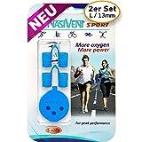 Nasivent Sport - Verbesserung der Nasenatmung bei Sport- und Freizeitaktivitäten sowie als Mittel gegen Schnarchen (Sky Blue, XS)